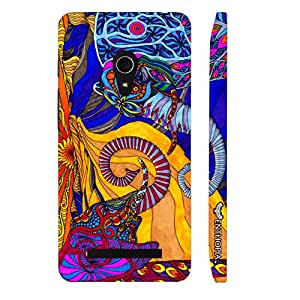 Asus Zenfone 5 Abstract Elephants designer mobile hard shell case by Enthopia