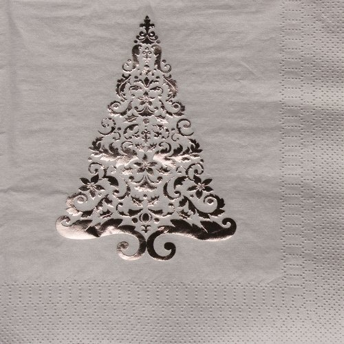 Creative Converting Glitz Silver Foil Stamped Lunch Napkins, 16 Count