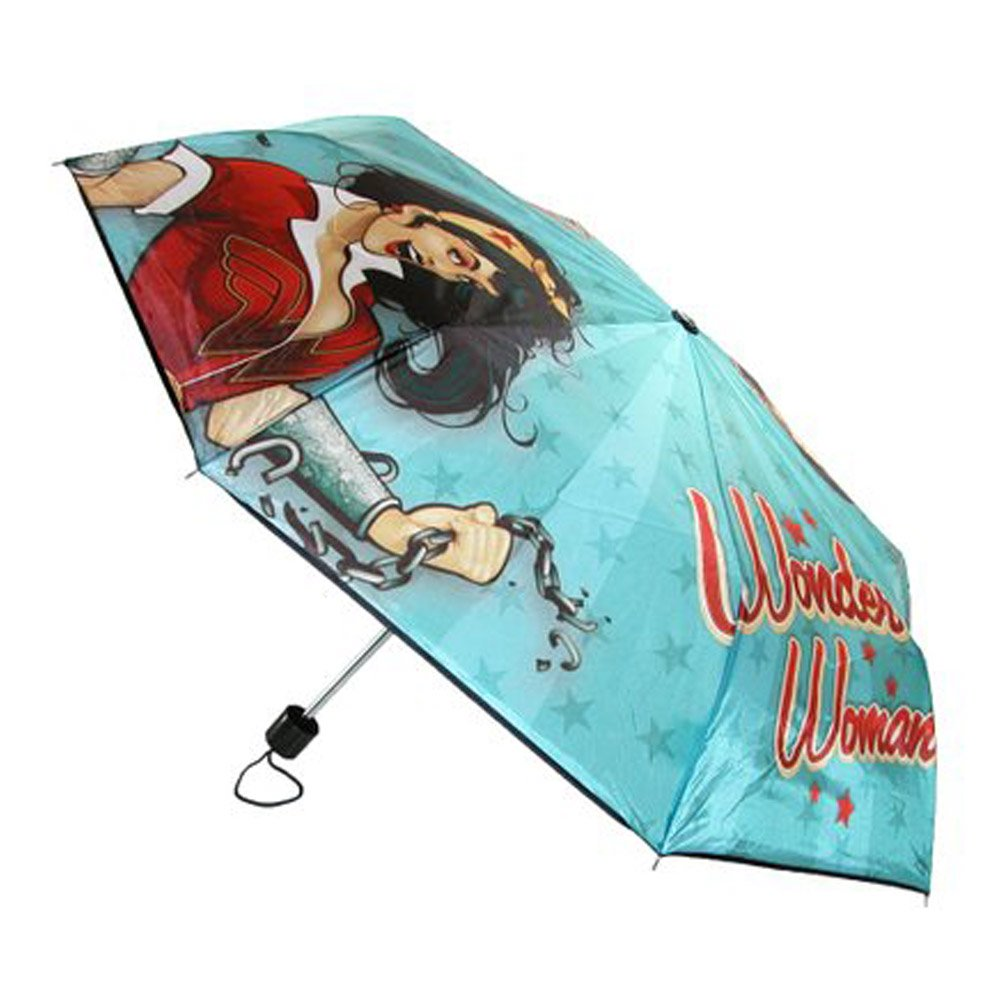BioWorld Womens DC Comics Wonder Woman Compact Umbrella 0