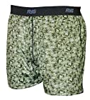 AYG Men's Performance Silk Print Boxer Shorts GREEN L