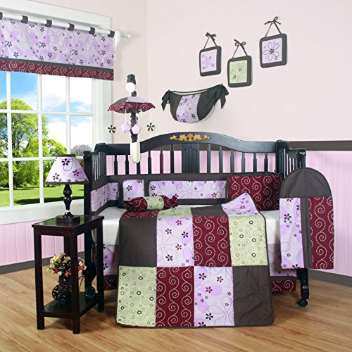 GEENNY Boutique Crib Bedding Set, Love Circle, 13 Piece - 1