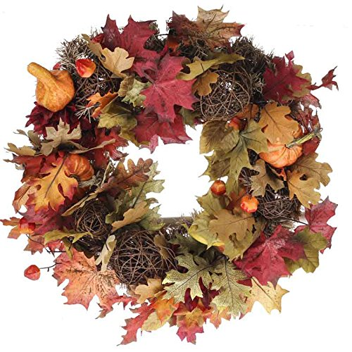 Factory Direct Craft® Realistic Fall Artificial Gourd and Berry Wreath for Home Decor, Craft Accents and Embellishing