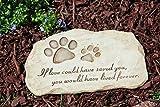 Evergreen Enterprises Dog Paw Print Devotion Garden Stone
