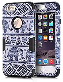 """buy Iphone 6 Case,Iphone 6 Elephant Case,Topsky(Tm) Thailand Elephant Tribe Pattern 3 Layer Heavy Duty High Impact Hybrid Case For Iphone 6 (4.7""""),With Screen Protector And Stylus,(6Gkkdx,Black)"""