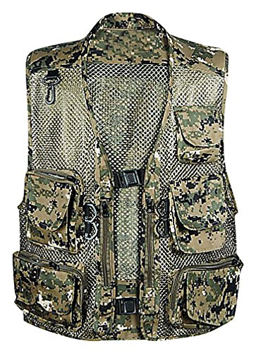 LAZERE Men Outdoor Fishing Hunting Photographer Utility Vest, Green Electronic Large (Electronic Vapour compare prices)