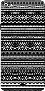 Snoogg Black And White Aztec Designer Protective Back Case Cover For Micromax Canvas Silver 5 Q450