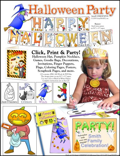 Scrapsmart - Halloween Party Software Kit - Jpeg, Pdf, And Microsoft Word Files For Mac [Download]