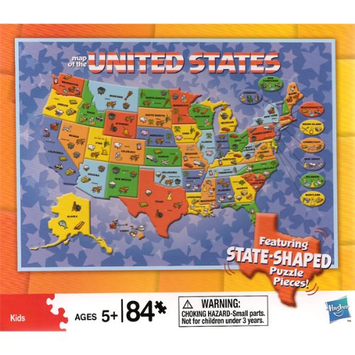 Cheap Hasbro MAP OF THE UNITED STATES SHAPED JIGSAW PUZZLE (B003OFR0OC)