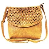 Madame Exclusive Women's Sling Bag (Beige,Me-01Be)