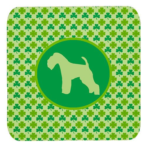 Caroline's Treasures Lakeland Terrier Lucky Shamrock Foam Coasters (Set of 4)