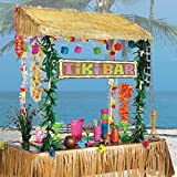 Amscan Table Top Tiki Bar Hut, 55 by 22-Inch