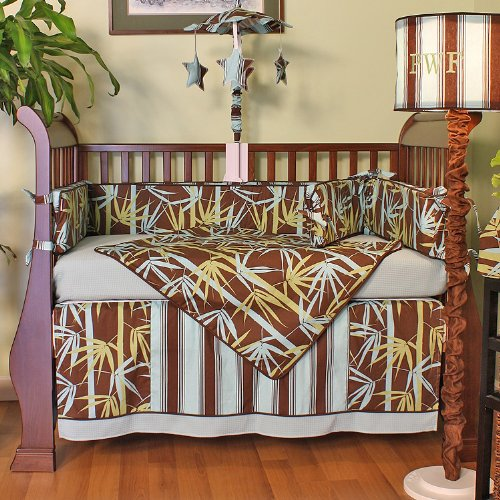 Hoohobbers 4-Piece Crib Bedding, Forest Fans