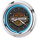 Harley-Davidson Essential Bar & Shield Neon Clock
