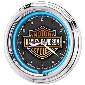 Harley-Davidson® Essential Bar & Shield Neon Clock