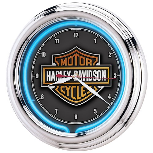 Harley-Davidson® Essential Bar & Shield Neon Clock