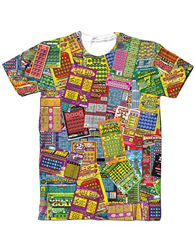 Lottery Tickets Sublimated T-Shirt Scratch Your Way To Riches