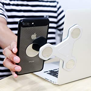Phone Dock : Cradle Holder Phone 11 Pro//Xs Max//Xr//8 Sliver All Android Smartphone Monitor Side Mount Magnetic Bracket Accessories Desk Compatible with Computer Cell Phone Stand