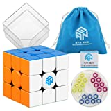 D-FantiX Gan 354 M 3x3 Speed Cube Stickerless Gan 354M Gans 3x3 Magnetic Cube Puzzle Toys (Color: Multi-color)