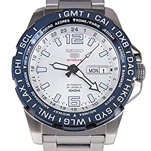 Seiko 5 Sports Automatic White Dial Stainless Steel 100M Mens Watch SRP687