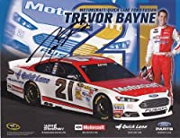 AUTOGRAPHED 2013 Trevor Bayne #21 MOTORCRAFT RACING (Ford Fusion) 9X11 SIGNED NASCAR Hero Card w/ COA