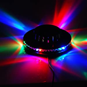 Eyourlife 48 LEDS RGB Party Light Auto Rotating Sunflower Stage Lighting for KTV Bar Wedding School Party Show,Sound Activated