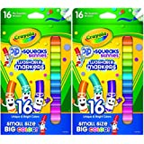 Crayola Pip-squeaks Skinnies Washable Markers, 16 Count (Pack of 2) Total 32 Markers