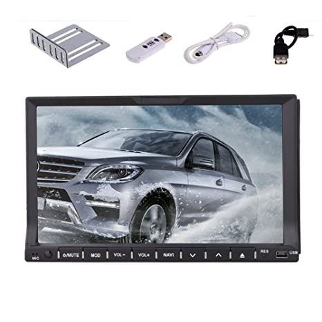Autoradio En la cubierta del coche GPS Radio CD estšŠreo con transmisor 2DIN d'šŠcran DVD 7 pulgadas 2 Din RDS CD Reproductor De Video PC Navegaciš®n Autoradio Bluetooth Dongle 3G Touch HD Radio FM / AM HD FM / AM