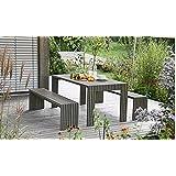 Gartentisch Holztisch Gartenmöbel Tisch Esstisch Küchentisch Esszimmertisch (140x91x76cm; akazie-geoelt; beine-geschlossen)
