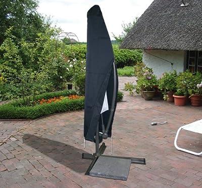 Schutzhülle Wetterschutzhülle Schutzhaube Hülle für Ampelschirm anthrazit (9687)