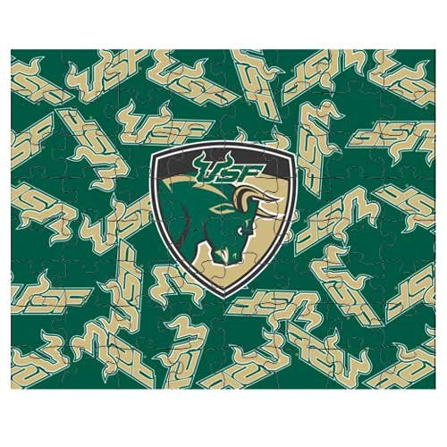 NCAA South Florida Bulls 500-Piece Logo Puzzle - 1
