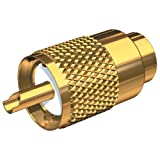 SHAKESPEARE Shakespeare PL-259-8X-G Solder-Type Connector w/UG176 Adapter & DooDad® Cable Strain Relief f/RG-8X Coax / PL-259-8X-G /