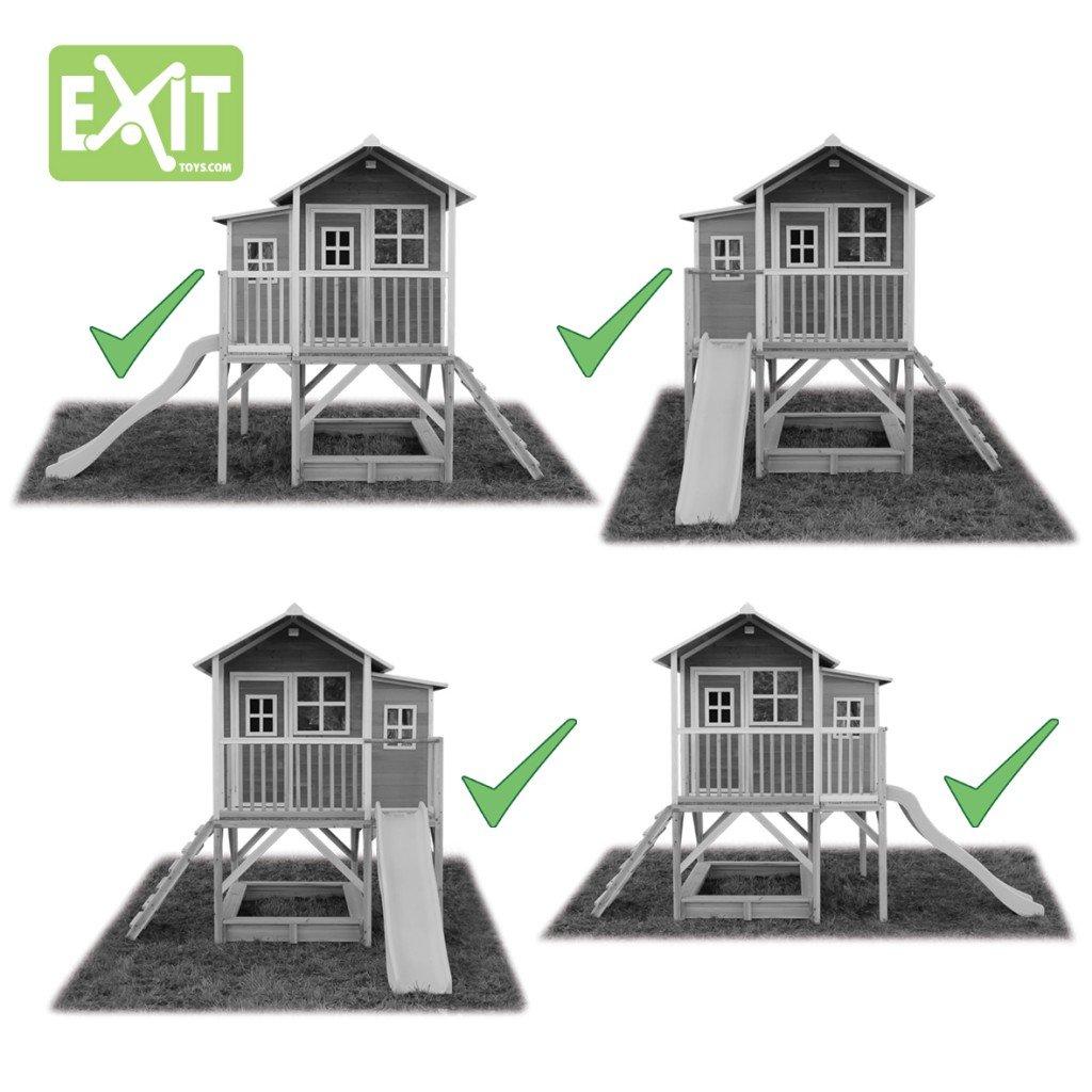 EXIT Loft 550 natur / Spielhäuschen auf Stelzen mit Veranda+Rutsche + Sandkasten / Zedernholz / Maße: 170 x 171 x 250 cm / 172,5 kg / 3+ günstig kaufen