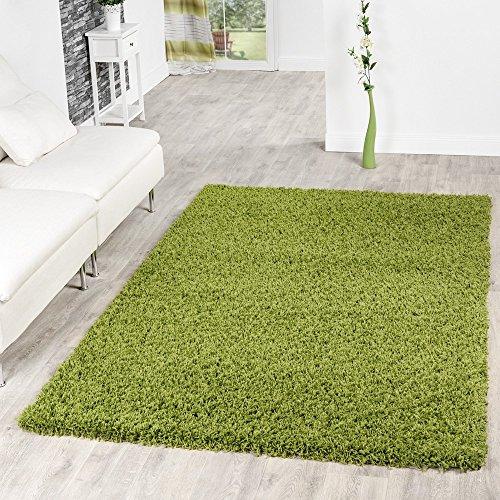 Shaggy Teppich Hochflor Langflor Teppiche Wohnzimmer Preishammer versch. Farben, Farbe:gruen;Größe:160x220 cm