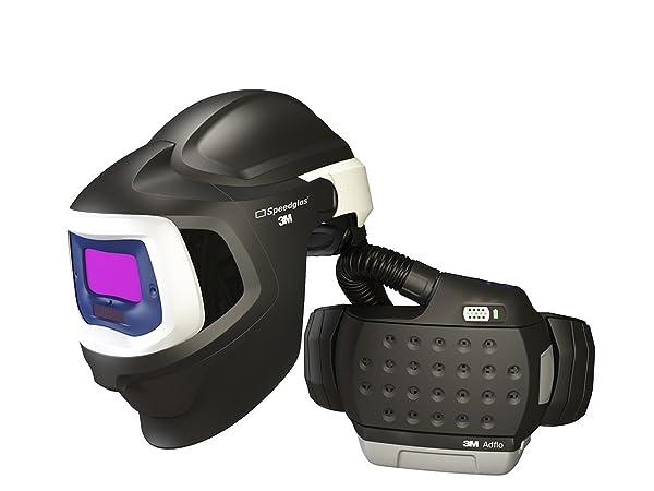 3M 37-1101-20SW Powered Air Purifying Respirator High Efficiency System with 3M Speedglas Welding Helmet 9100 MP, Lithium Ion Battery, Hard Hat, Side Windows and Auto-Darkening Filter 9100X, Shades 5, 8-13 (Tamaño: Universal)