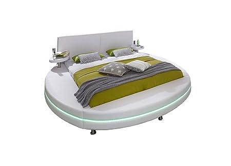XXS® Polsterbett Rundbett Gallo 160 x 200 cm Bett in weiß