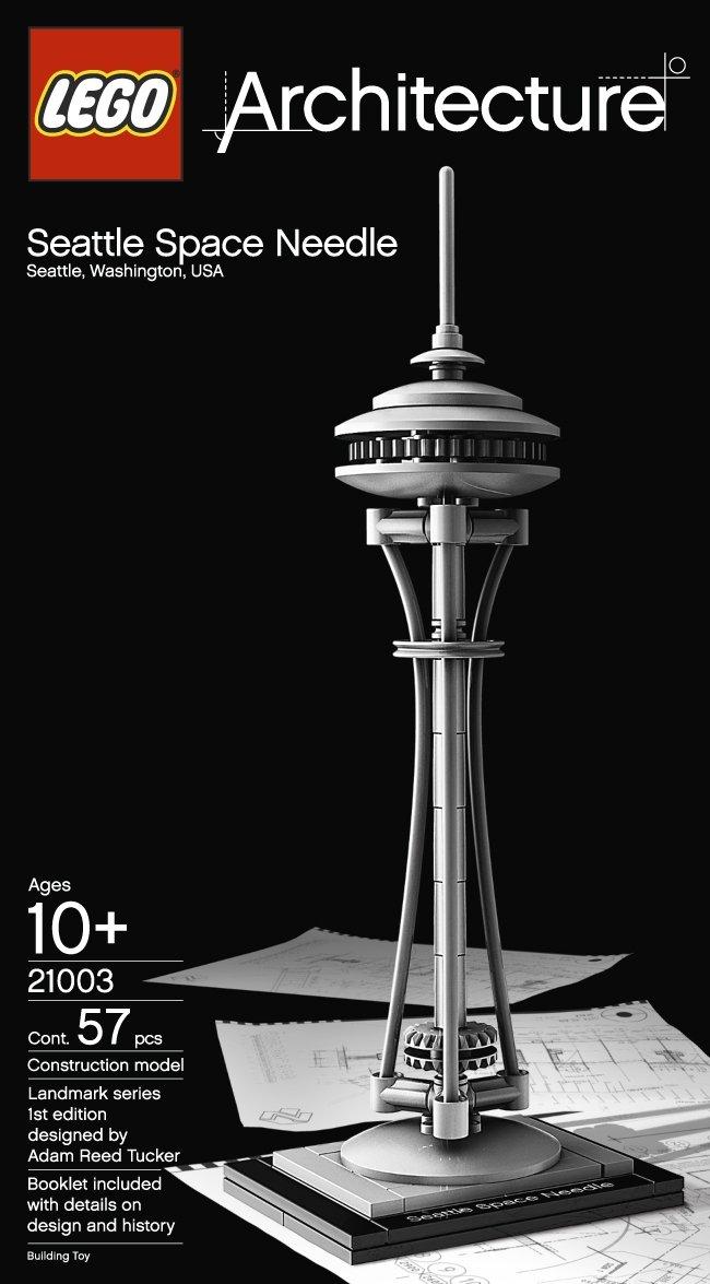 Lego Architecture Seattle Space Needle 21003 New Free