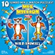 Wild Animals Mix-A-Million 10 Jumbo Mix and Match Puzzles
