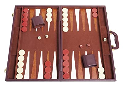 best leather backgammon board set