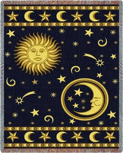 Moon and Stars Throw - 70 x 54 Blanket/Throw