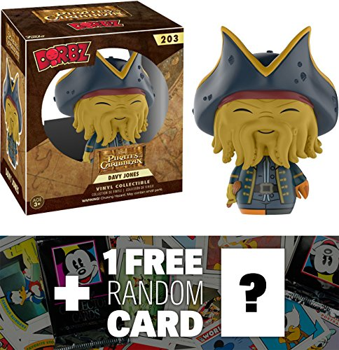 Davy Jones: Funko Dorbz x Pirates of the Caribbean Mini Vinyl Figure + 1 FREE Classic Disney Trading Card Bundle (108270)