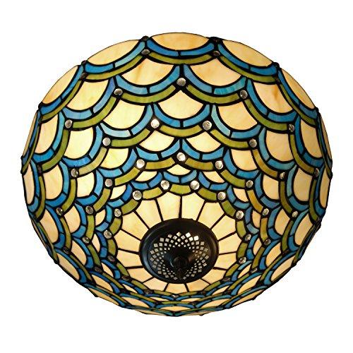 Deckenleuchte mit bogen im glas tiffany-stil handwerk PA16001