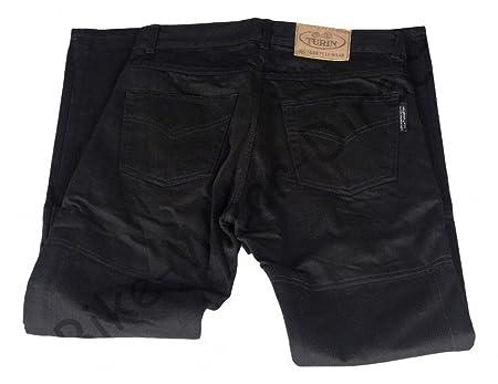 Mens Black Dupont Kevlar Moto Jeans avec protection CE