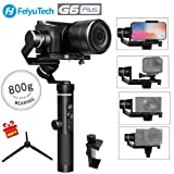 Feiyu G6 Plus 3-Axis GoPro Gimbal Stabilizer Splash-Proof DSLR Gimbal 12 Hours Running Time for Camera,Smartphone,Action Camera Gopro,Digital Cameras Payload 800g