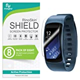 [8-Pack] RinoGear for Samsung Gear Fit2 Screen Protector [Active Protection] Gear Fit 2 Flexible HD Crystal Clear Anti-Bubble Film