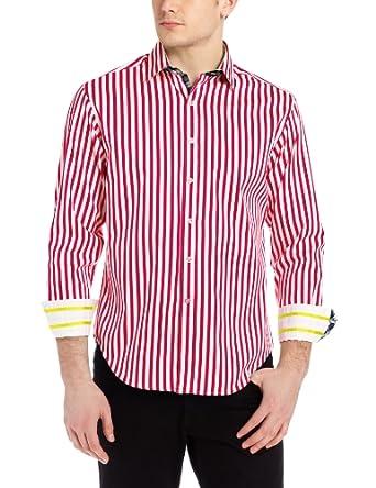 Robert Graham Men's Mr. Balik L/S Sport Shirt Fuchsia SM