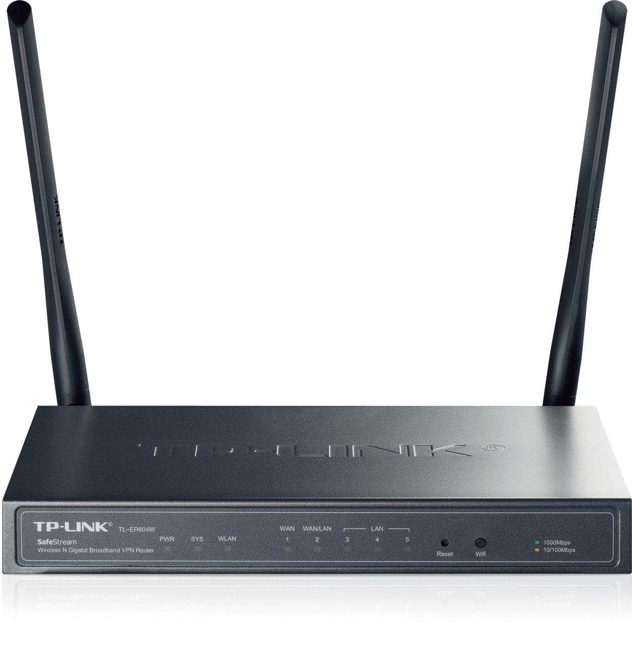 TP-LINK TL-ER604W SafeStream Wireless N300 Gigabit Broadband VPN Router, Load Balance, IPsec/PPTP/L2TP VPN, 300Mbps Wireless N Speed