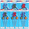 Party Supplies - Number 2 Birthday Candle on a Stick, 3-pc. Packs