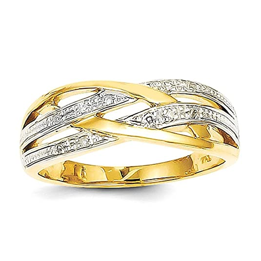 14k Rhodium Diamond Ring