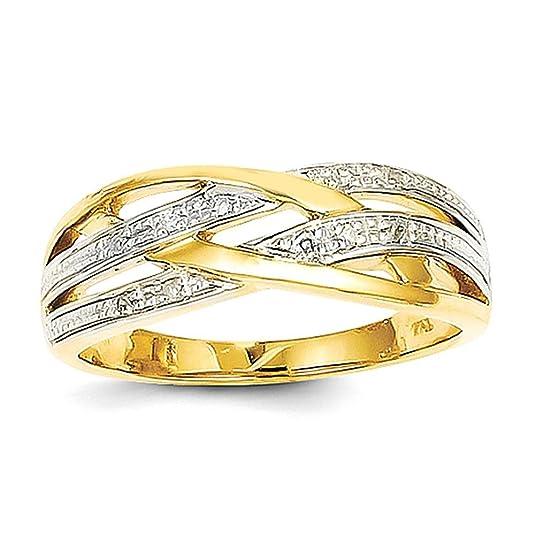 14k Rhodium Diamond Ring