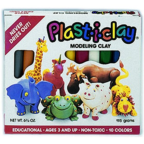 PLASTICLAY 10 ASSORTED COLORS - 1